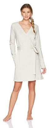 The Slumber Project Women's Short Cotton Bath Robe