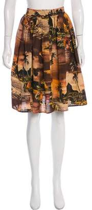 Jean Paul Gaultier Island Print Mini Skirt