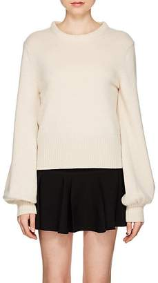 Chloé Women's Wide-Sleeve Stockinette-Stitched Cashmere Sweater - Ivory