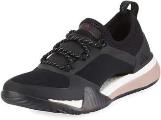 adidas by Stella McCartney PureBoost X TR 3.0 Mesh Sneakers, Black/Smoked Pink