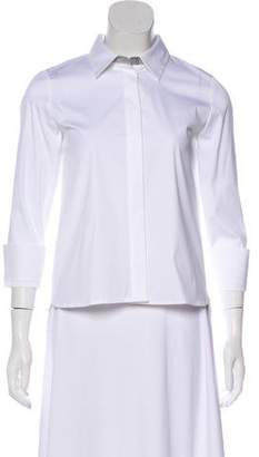 Lafayette 148 Long Sleeve Button-Up Top