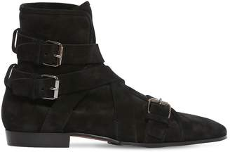 Balmain 20mm Bottine Suede Boots