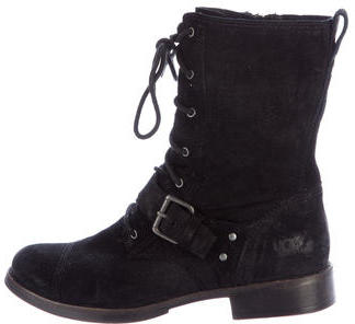 UGG UGG Australia Suede Lace-Up Ankle Boots