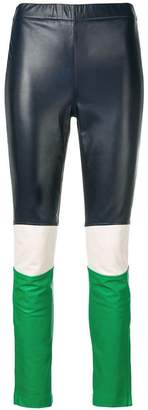 P.A.R.O.S.H. colour block skinny trousers
