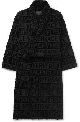 Versace Logo-Jacquard Cotton-Terry Robe