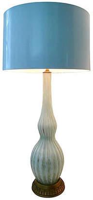 One Kings Lane Vintage 1950s Murano Glass & Giltwood Lamp - Jacki Mallick Designs