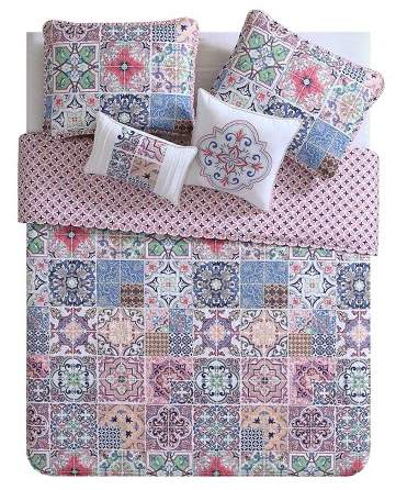 VCNY Azure Printed Quilt Set - VCNY®