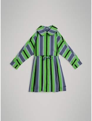 Burberry Striped Drawcord Dress
