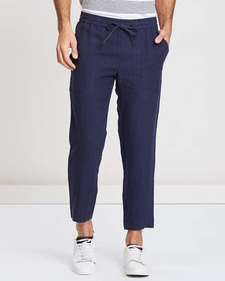 Linen Pull On Pants