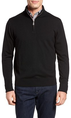 Men's Tailorbyrd Backfoot Quarter Zip Wool Sweater $125 thestylecure.com