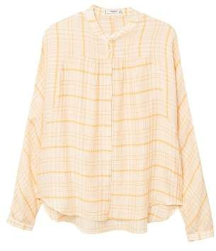 MANGO Textured check shirt