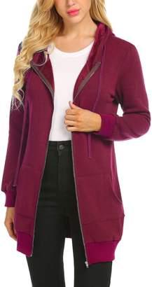 7a79a16162132 at Amazon Canada · Zeagoo Women Basic Soft Zip Up Terry Long Sleeve Pocket Hoodies  Sweater Jacket