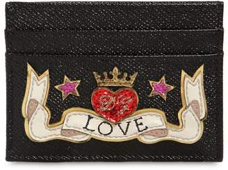 Dolce & Gabbana Love Leather Card Holder