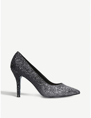 Nine West Flax glitter-ombré heeled courts