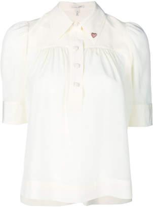 Marc Jacobs half sleeve heart collar blouse
