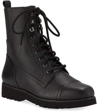 Donald J Pliner Camren Cap-Toe Leather Hiker Boots