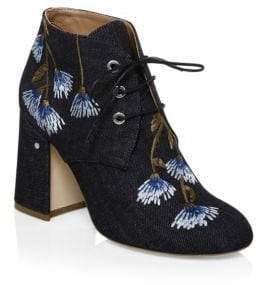 Laurence Dacade Poppy Sunnyvale Denim Booties