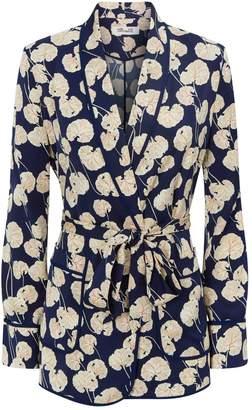 Diane von Furstenberg Braelyn Leaf Print Wrap Jacket