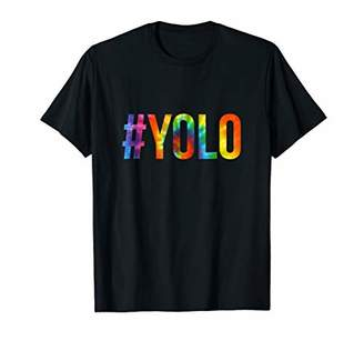 #YOLO Hashtag You Only Live Once T-Shirt in Tiedye!