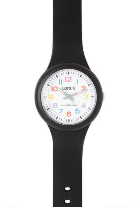 Lorus RRX41EX-9 Kids Black Strap Coloured Number Analogue Watch