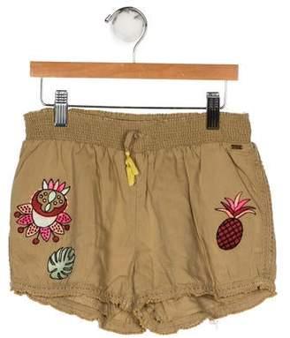 Scotch & Soda Girls' Embroidered Mini Shorts