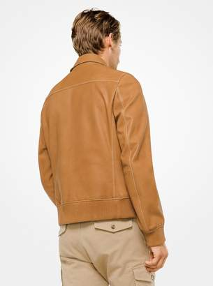 Michael Kors Leather Flight Jacket