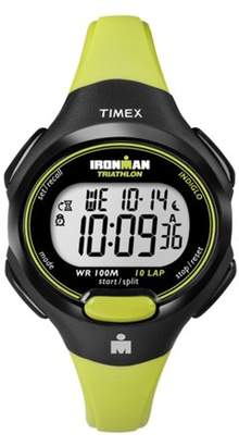 Timex Women's Ironman Essential 10 Mid-Size Watch, Green Resin Strap