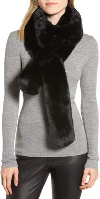 Trouve Faux Fur Long Scarf