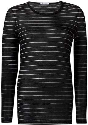 Alexander Wang striped long sleeve top