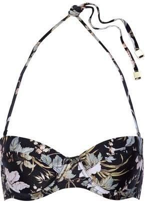 Zimmermann Gossamer Floral-Print Bandeau Bikini Top