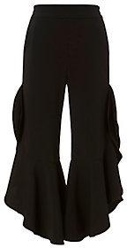 Cropped Ruffle Pants