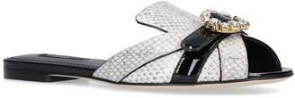 Dolce & Gabbana Leather Abaya Slides