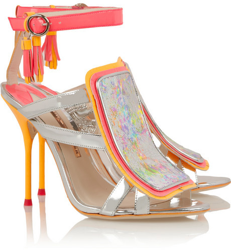 Webster Sophia Marissa metallic and neon leather sandals