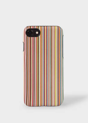 Paul Smith Signature Stripe Leather iPhone 7/8 Case