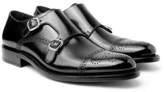 O'Keeffe Bristol Polished-Leather Monk-Strap Shoes