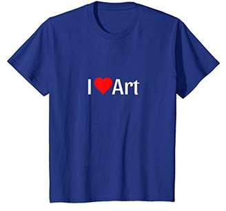 I Love Art T-Shirt for the True Art Lover