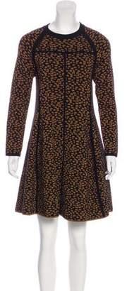 A.L.C. Wool-Blend Patterned Dress