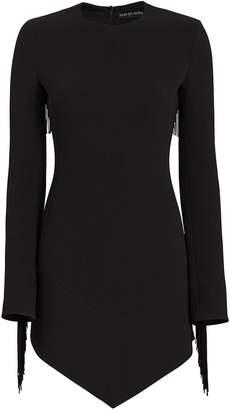 David Koma Fringe Open Back Mini Dress