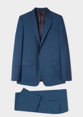 Paul Smith Men's Tailored-Fit Prussian Blue Wool-Mohair Suit