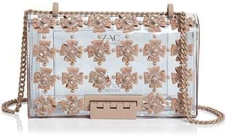 Zac Posen Earthette Floral Applique Convertible Shoulder Bag