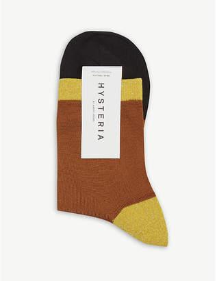 Hysteria Liza sparkle ankle socks