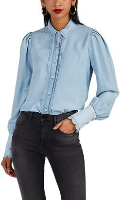 Frame Women's Scalloped Chambray Blouse