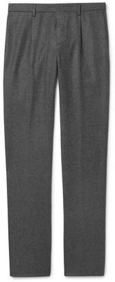 Loro Piana Slim-Fit Melange Wool and Cashmere-Blend Drawstring Trousers - Men - Gray