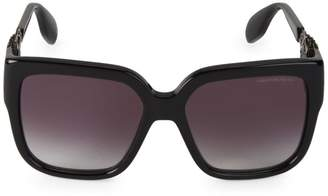 Alexander McQueen 56MM Jeweled Square Sunglasses