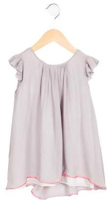 Marie Chantal Girls' Draped Silk Dress