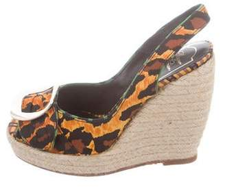 Roger Vivier Cordella Espadrille Wedge Sandals w/ Tags
