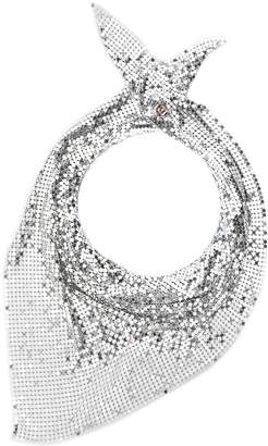 Paco Rabanne chainmail triangle scarf