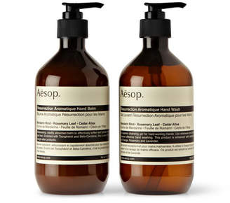 Aesop Resurrection Duet Hand Wash and Balm, 2 x 500ml