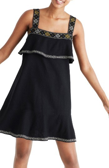 Women's Madewell Embroidered Popover Dress