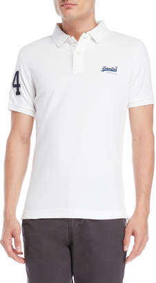 Superdry White Classic Pique Polo